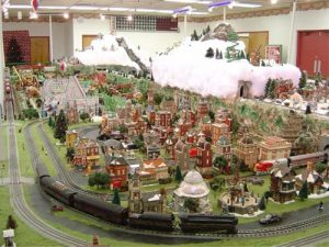 holiday train garden